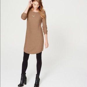 LOFT Tan Sweater Dress Size L